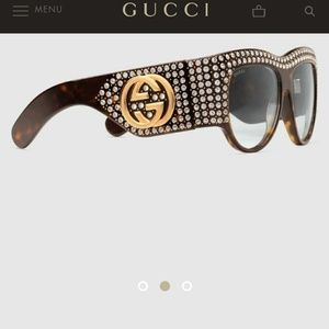 Gucci Actate Oversized Crystal Sunglasses